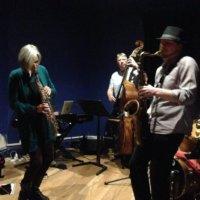 three members of Blue Jazz Sextet